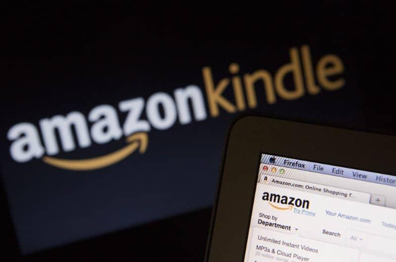 Amazon Kindle logo black background