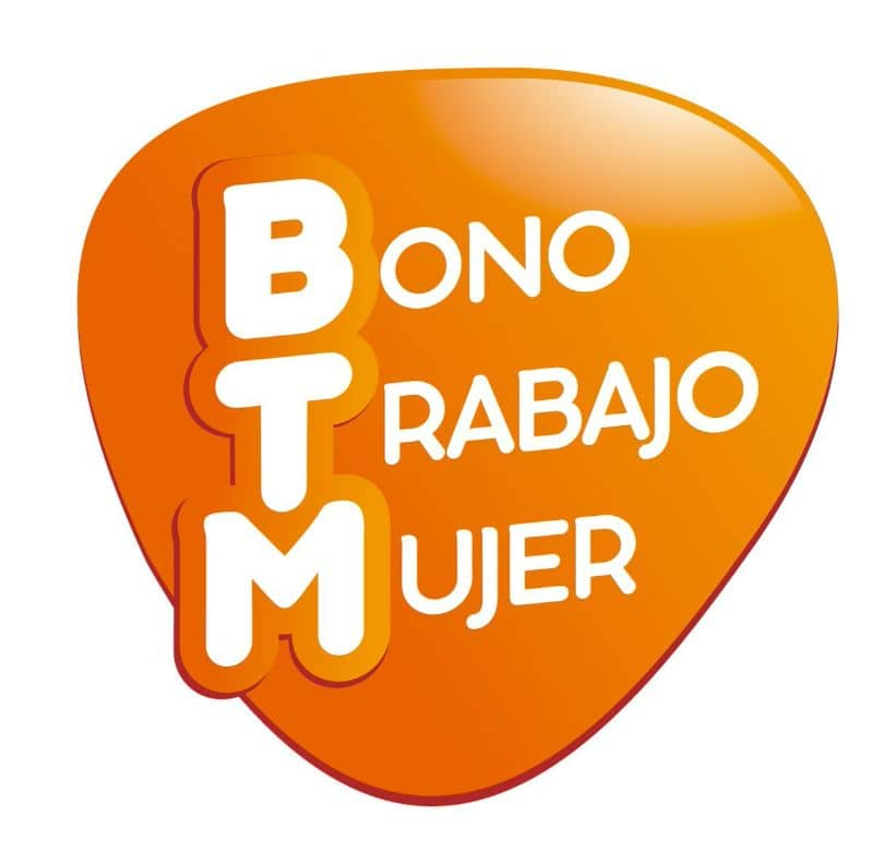 Woman job voucher orange logo with white background
