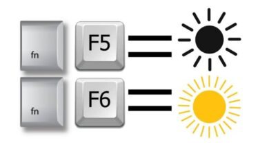 Photo of How to lower the brightness of my laptop with the keyboard