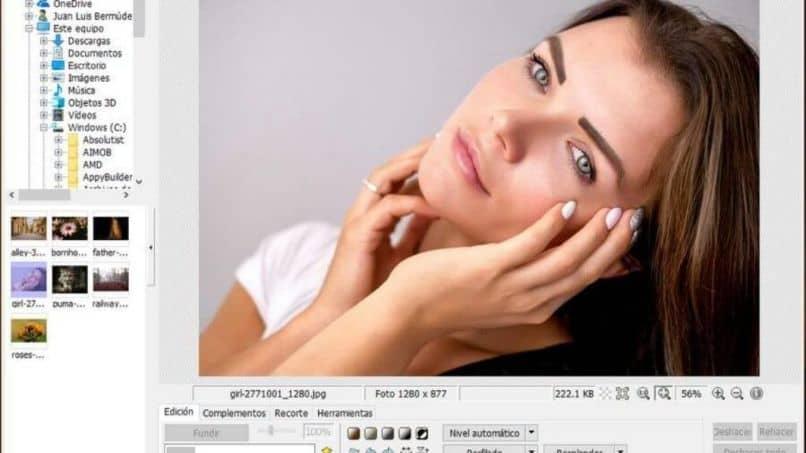 Editing female face
