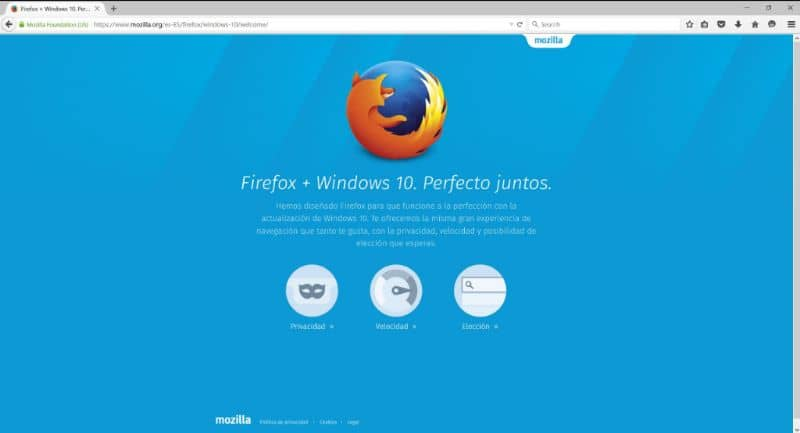 Firefox on Windows 10