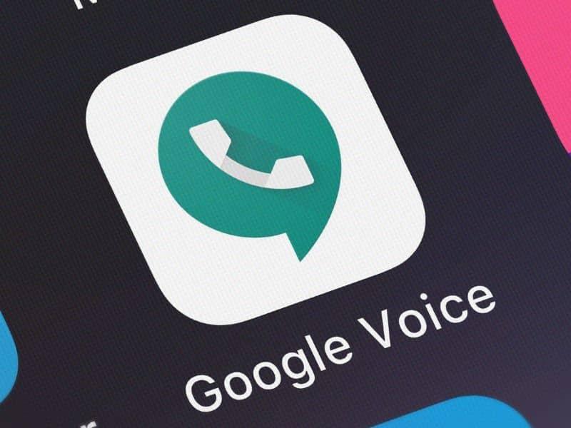 Google Voice app on mobile