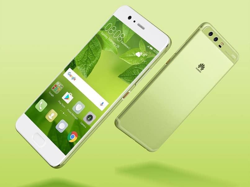 huaweii mobile green background
