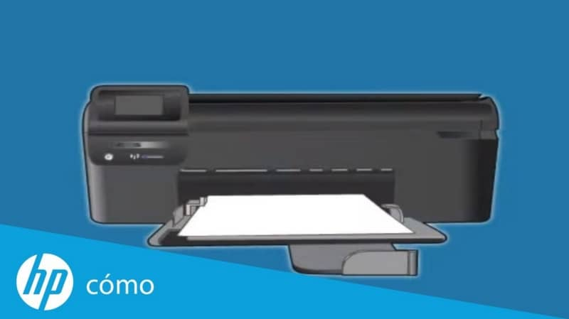 HP black printer, paper