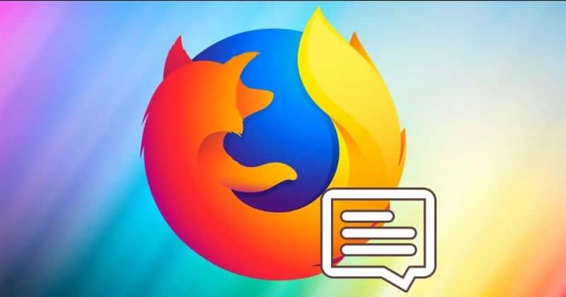 Firefox logo, notifications