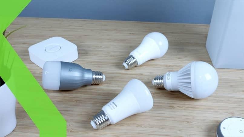 group of led and smart bulbs