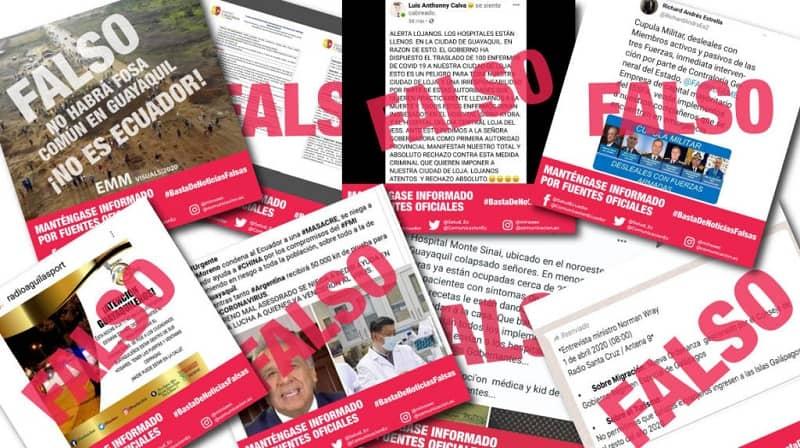 Fake news published on social networks