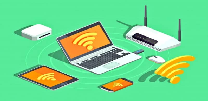 Router transmit signal many devices