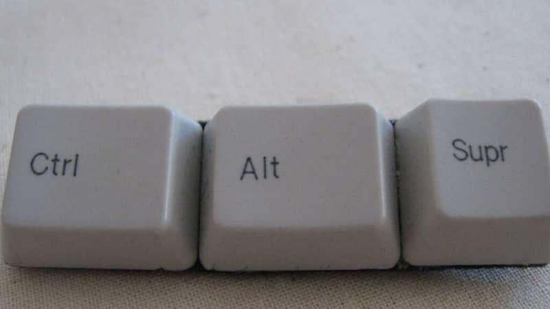 CTRL ALT DEL keys