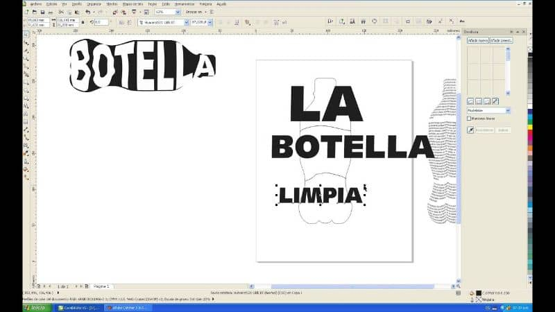 texts and logos with Corel Draw