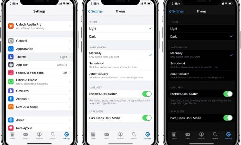 activate night mode any iphone