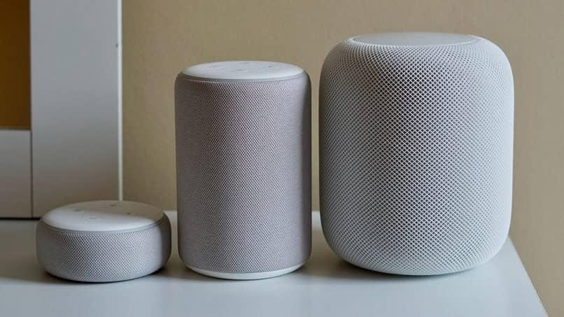 white speakers