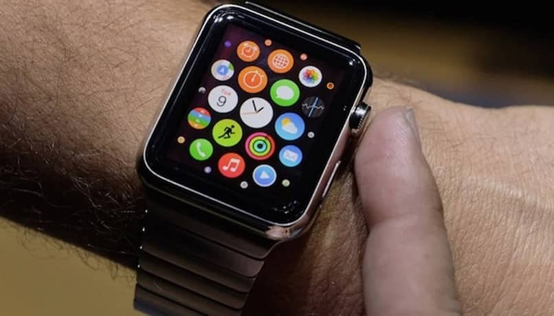 press apple watch button