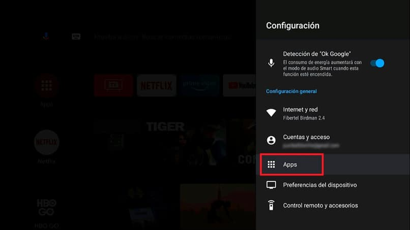 configure applications on android tv