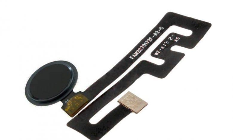 BQ Aquaris X Pro fingerprint reader button with white background