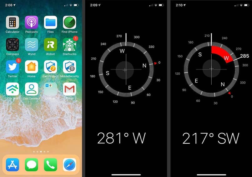 iphone compass function