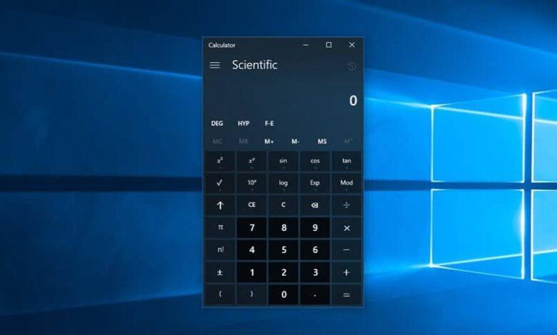calculadroa windows black