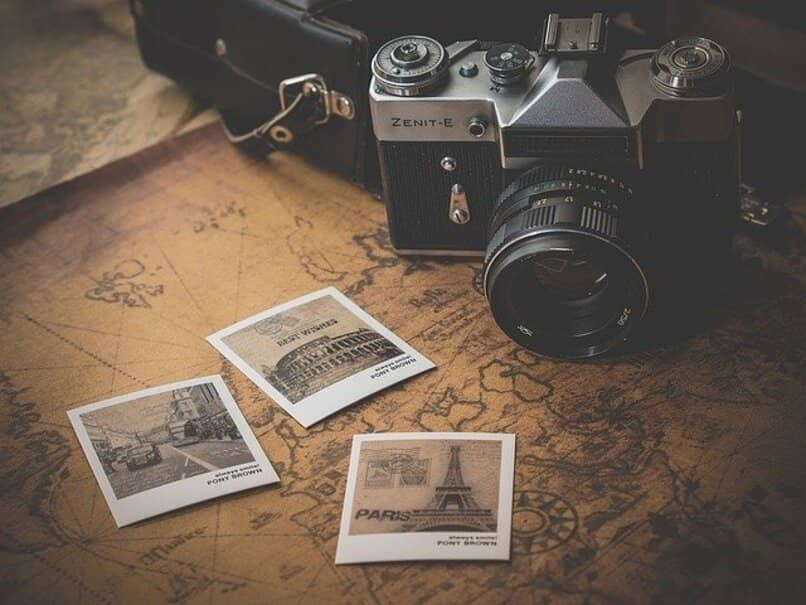 camera with photos
