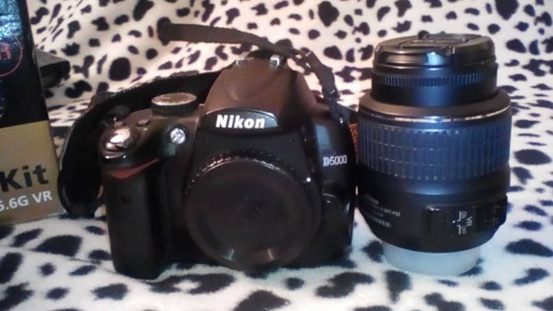 black nikon camera