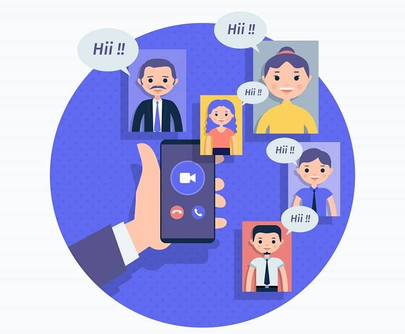 mobile phone cartoon with zoom