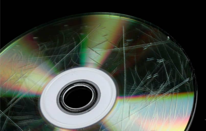 scratched cd black background