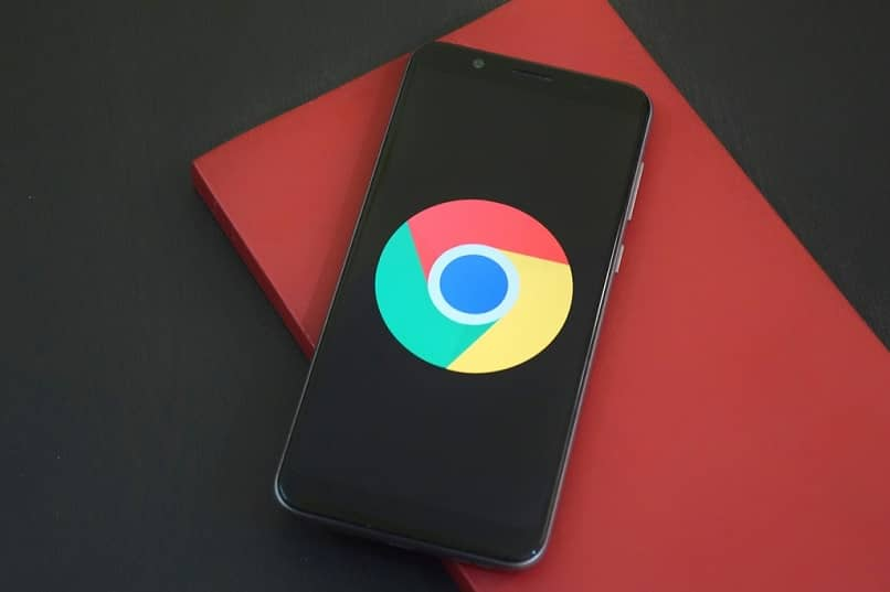 chrome on screen red background