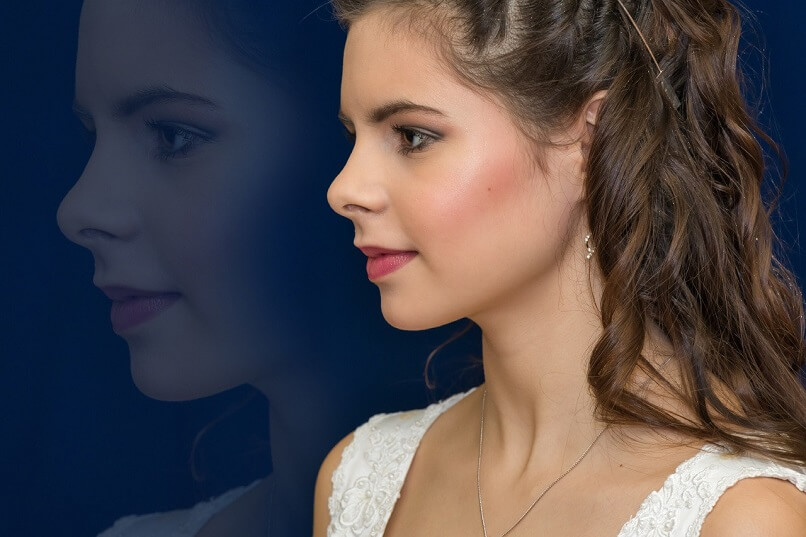 a beautiful girl in profile