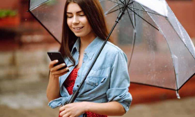 rain alarm on my cell phone