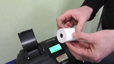 Photo of Calculator with ticket printer: Use and how to put the roll