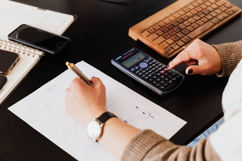 an accountant doing the necessary calculations for a cost analysis