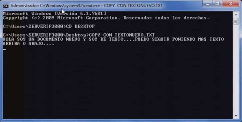create a CMD txt file