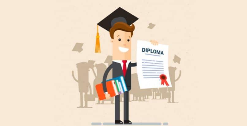 drawing young graduate diploma