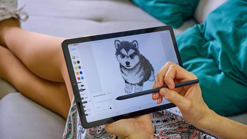 wolf drawing tablet galaxy tab