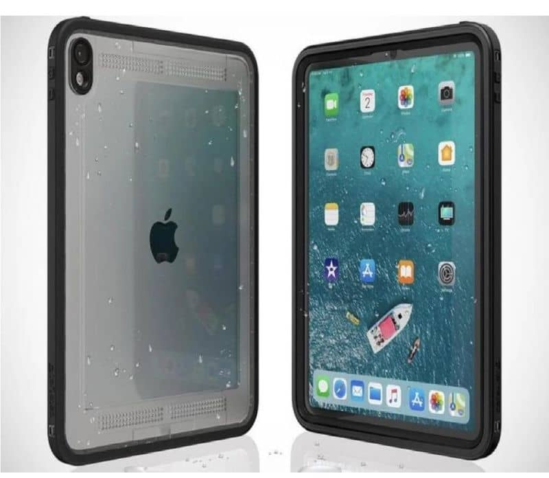 apple device with front and back water protector