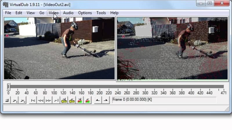Video editing page