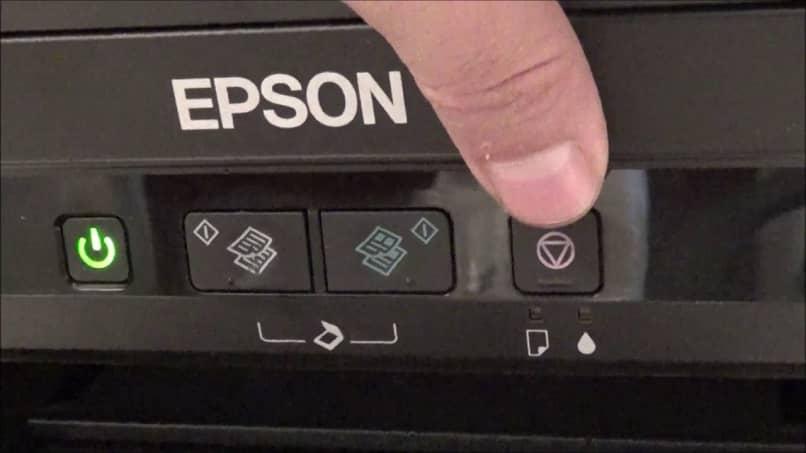 epson ink button