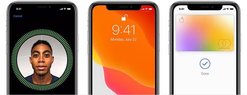face id screens phones
