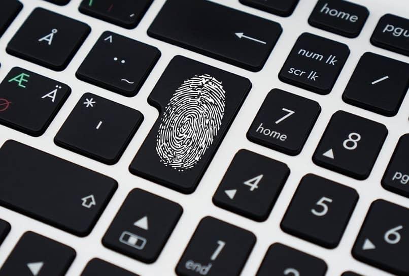 press fingerprint keyboard