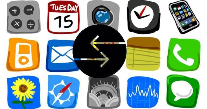 iphone apps illustrations white background