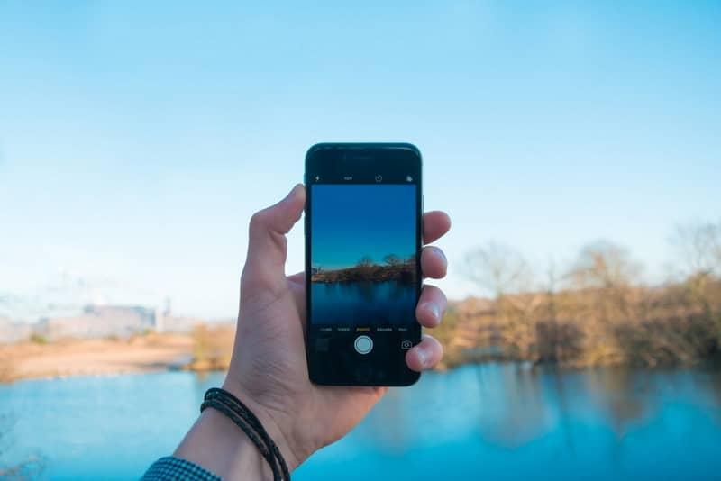 mobile iphone landscape