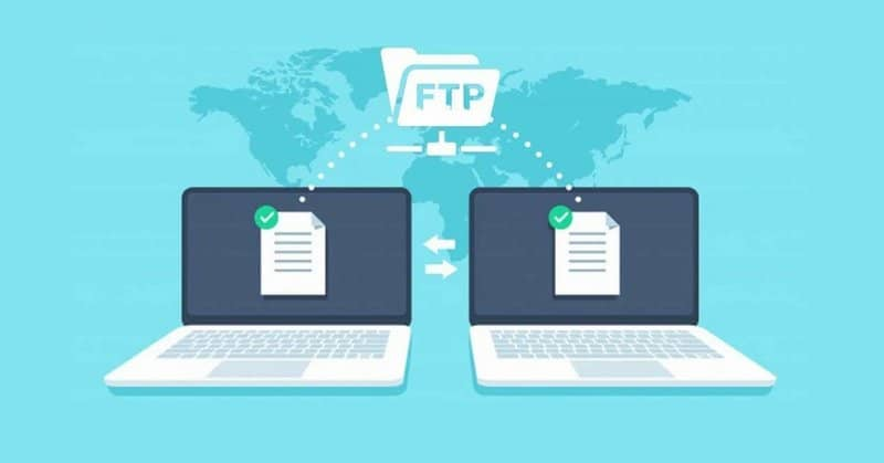 share files on laptops with ftp