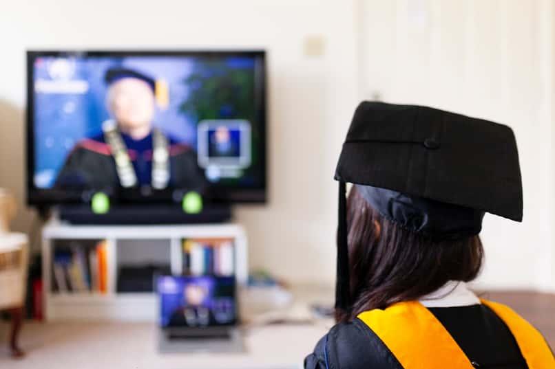 woman studies and graduates using team maker