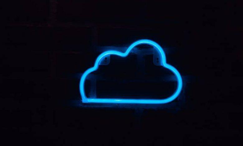 cloud in neon light