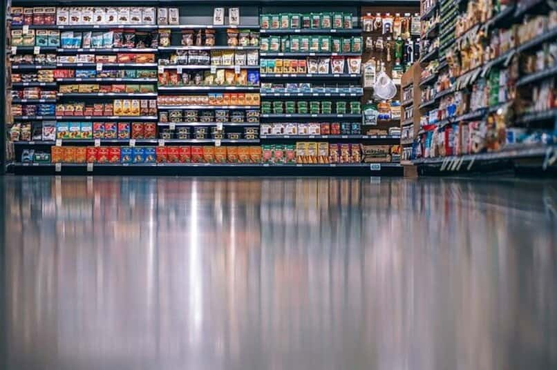 aisle with a variety of products