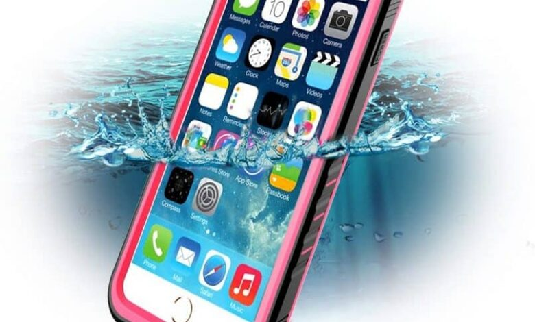 mobile protected from water