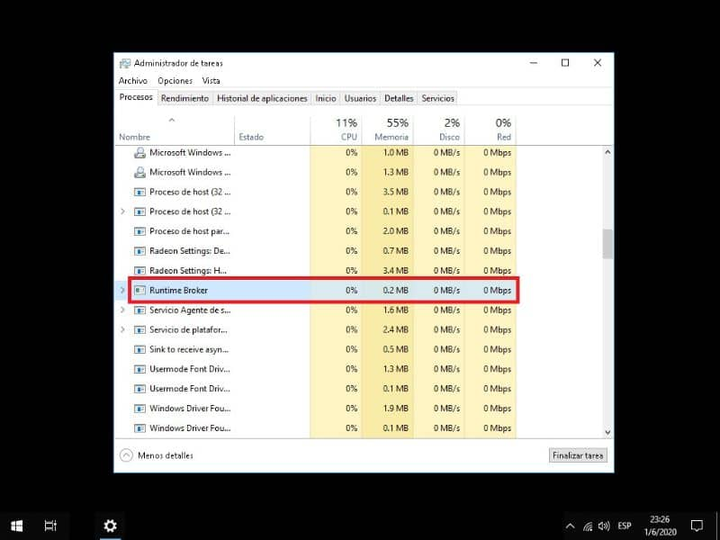 Runtime Broker avoid excessive consumption of RAM AND CPU