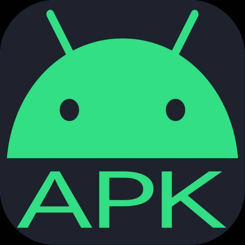 android symbol APK green color and black background