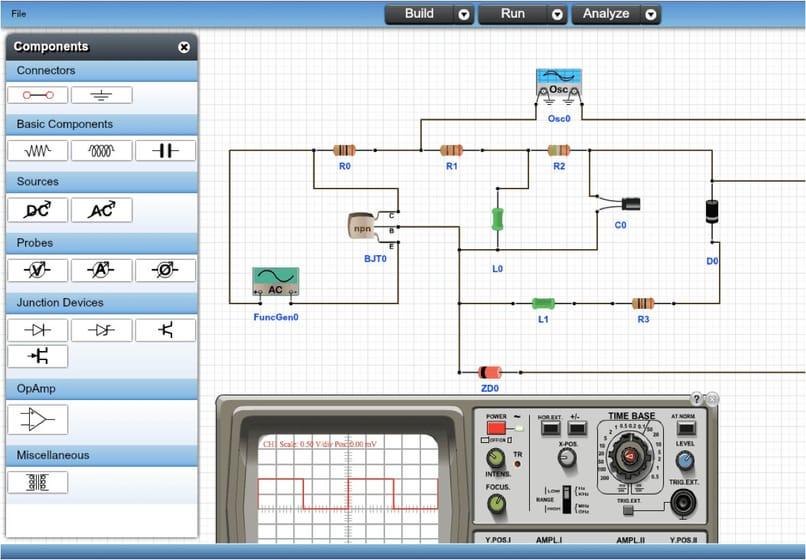 circuit in electronic simulator