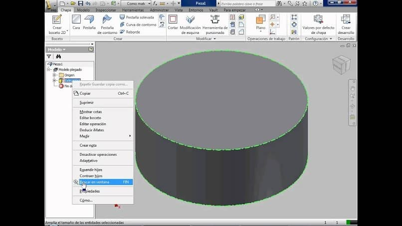3d model of a dxf file in a cad software