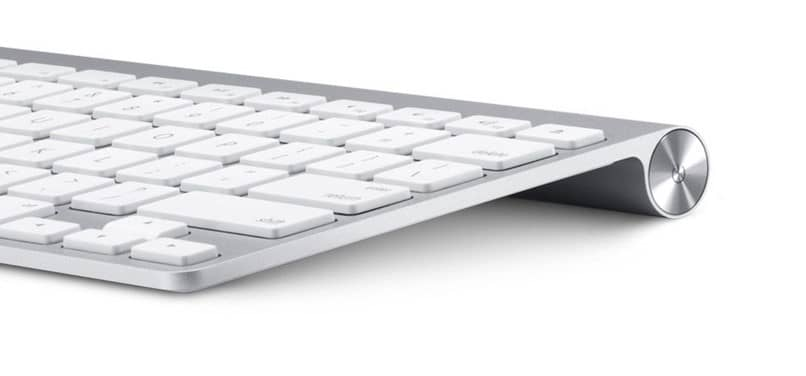 apple keyboard white background